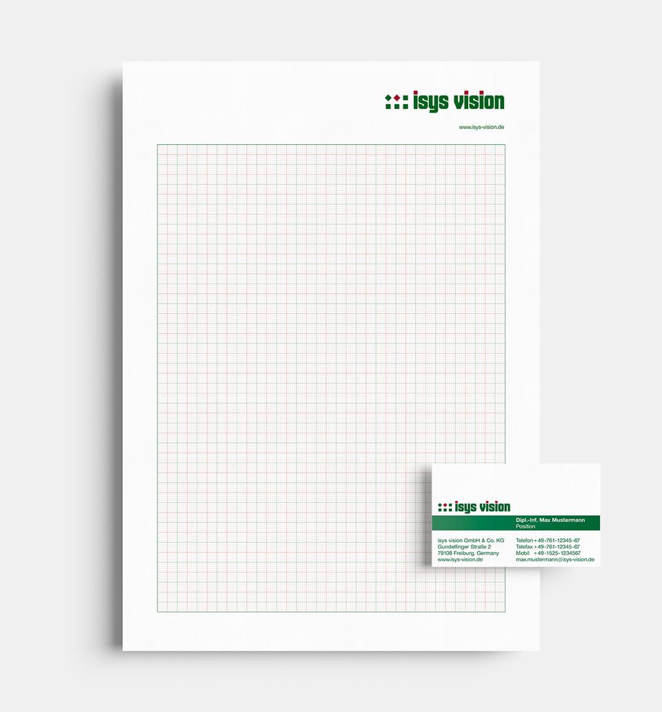 DRWA Das Rudel Werbeagentur Freiburg > Kompetenzen > Corporate-Design > Beispiel 08 > Kunde Isys Vision, Freiburg