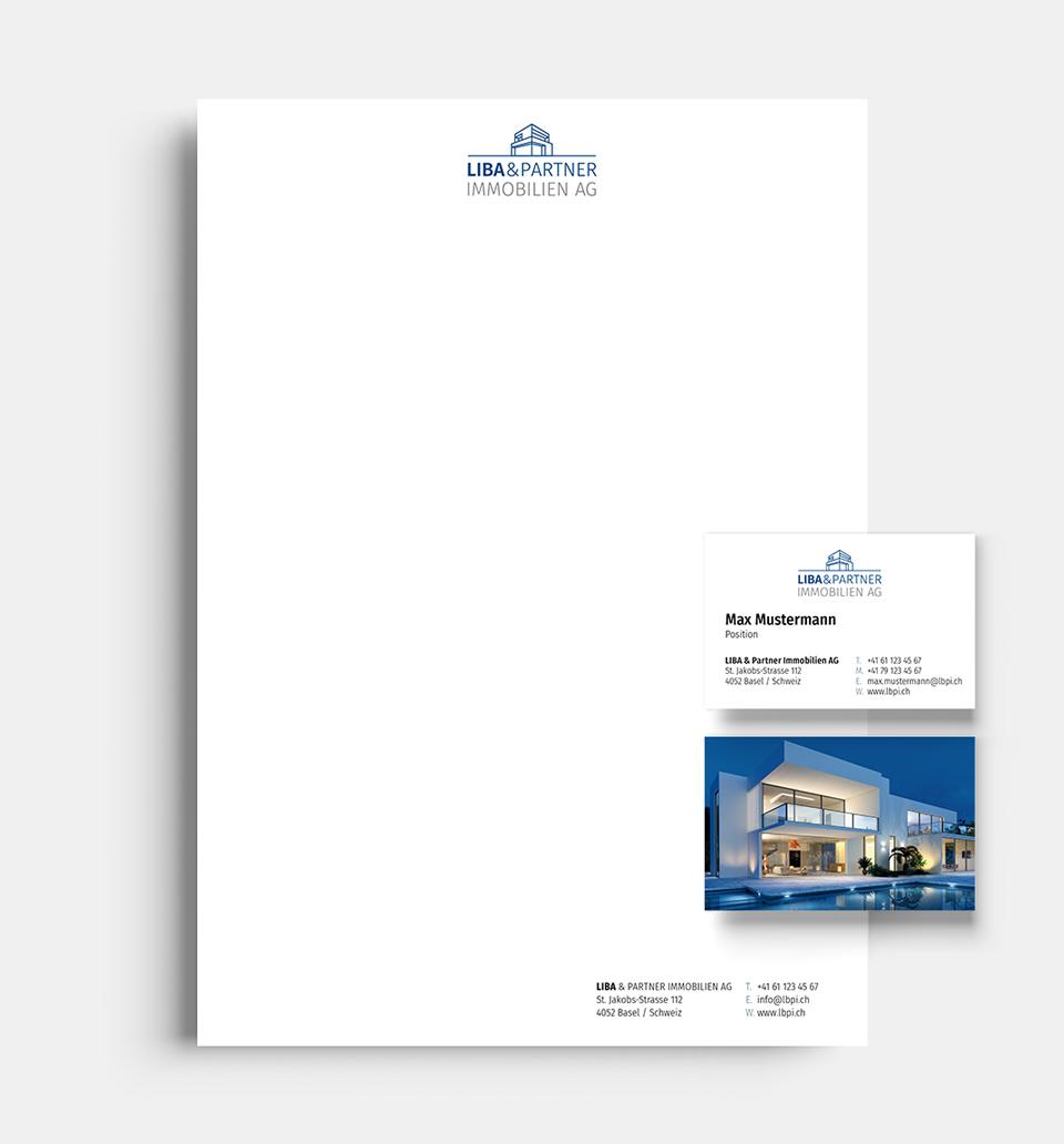 DRWA Das Rudel Werbeagentur Freiburg > Kompetenzen > Corporate-Design > Beispiel 04 > Kunde LIBA Immobilien, Basel