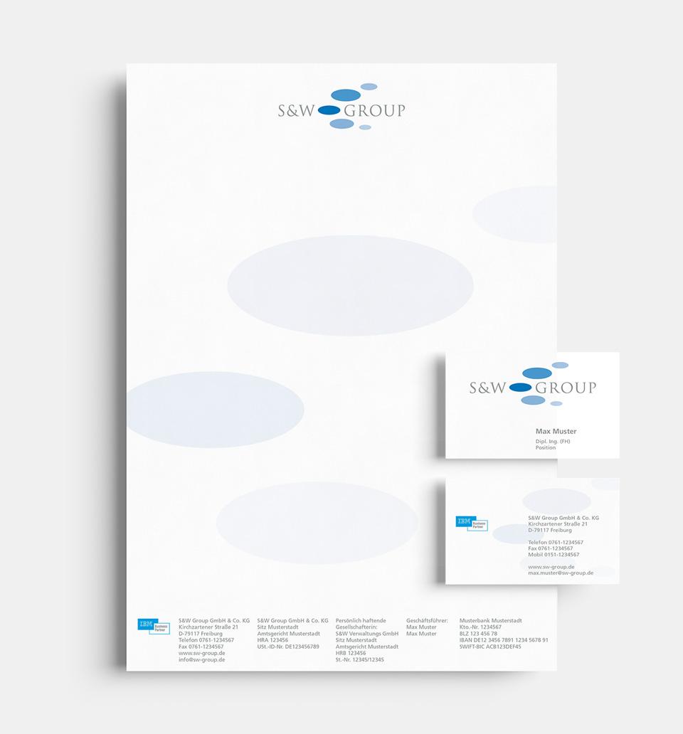DRWA Das Rudel Werbeagentur Freiburg > Kompetenzen > Corporate-Design > Beispiel 03 > S&W Group, Kirchzarten