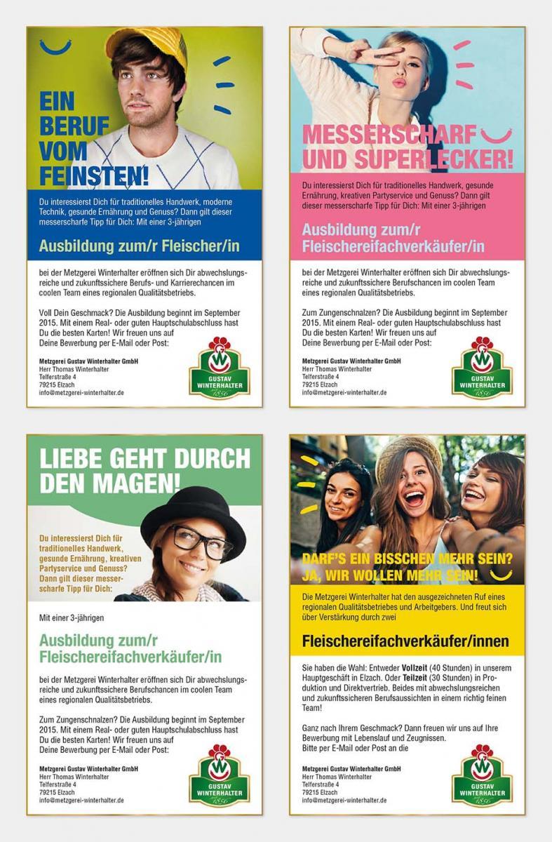 DRWA Das Rudel Werbeagentur Freiburg > Kompetenzen > Print-Design > Metzgerei Gustav Winterhalter, Elzach