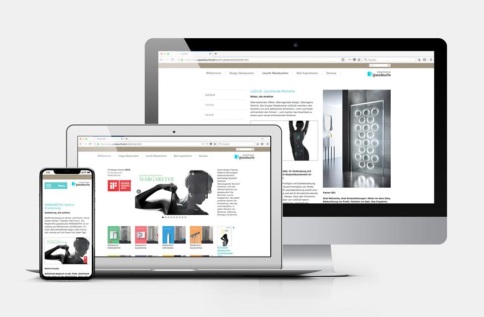 DRWA Das Rudel Werbeagentur Freiburg > Kompetenzen > Web-Design/-Programmierung > Beispiel Glassdouche