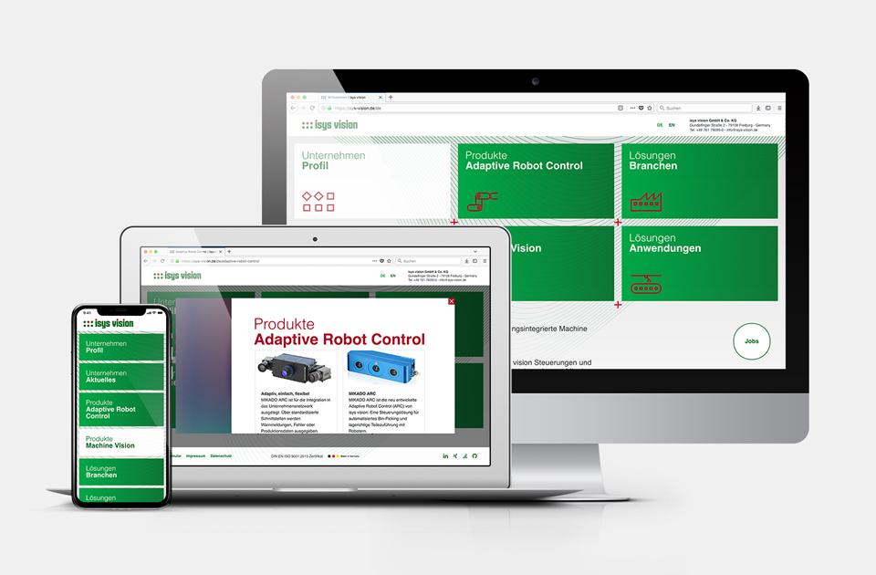 DRWA Das Rudel Werbeagentur Freiburg > Kompetenzen > Web-Design/-Programmierung > Beispiel Isys Vision