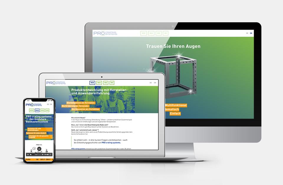 DRWA Das Rudel Werbeagentur Freiburg > Kompetenzen > Web-Design > PRO crating systems, Gäufelden
