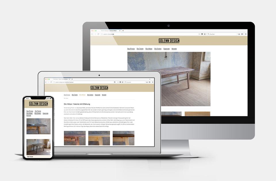 DRWA Das Rudel Werbeagentur Freiburg > Kompetenzen > Web-Design > Solenn Antikholz-Möbel, Kenzingen