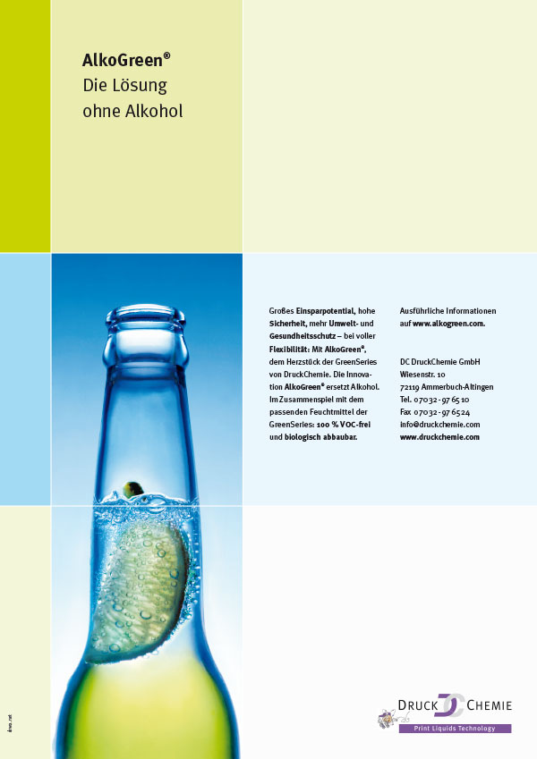 DRWA Das Rudel Werbagentur Freiburg | Awards Jahrbuch der Werbung 2005 | Anzeige DruckChemie