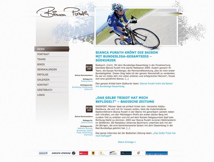 DRWA Das Rudel Werbagentur Freiburg | Awards Jahrbuch der Werbung 2010 | Website/Blog Bianca Purath