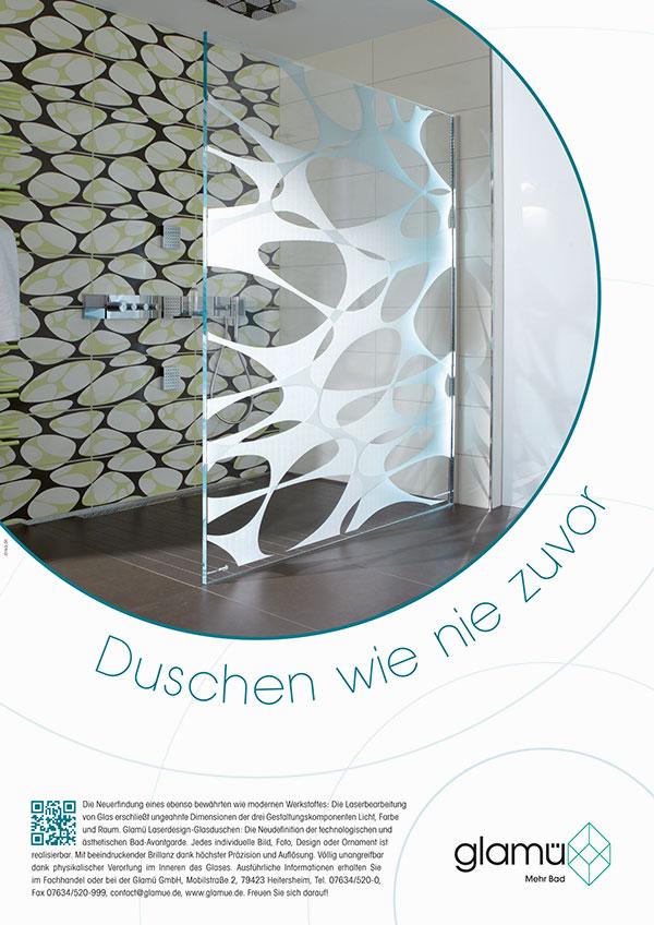 DRWA Das Rudel Werbagentur Freiburg | Awards Das Jahr der Werbung 2013 | Anzeige Glamuü Duschkabinen