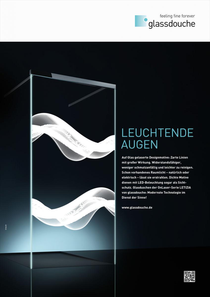 DRWA Das Rudel Werbagentur Freiburg • Agentur für mediale Kommunikation > Awards > Jahr der Werbung 2016 > Anzeige Glassdouche